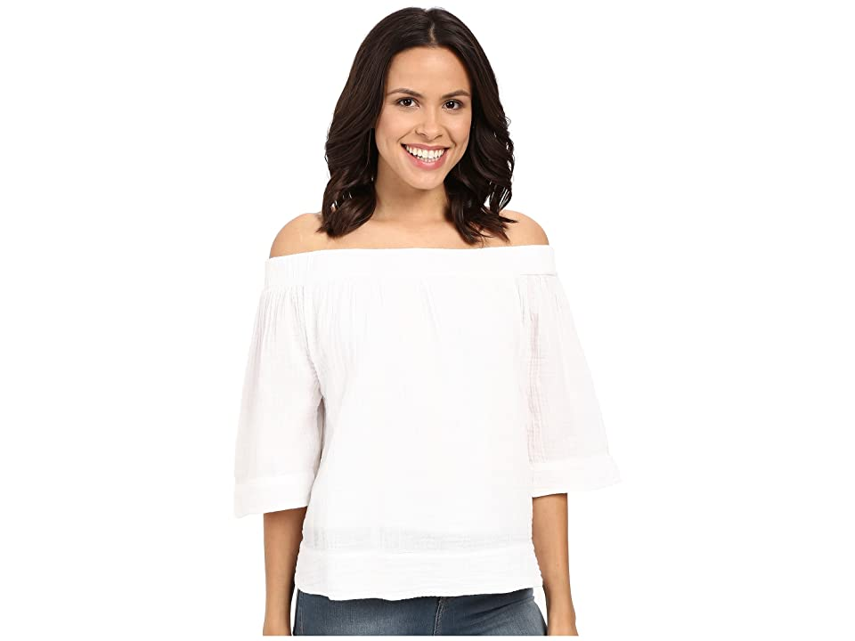 Three Dots Audrey Top (White) Women