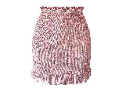 BCBGeneration Smocked Mini Skirt TSS3278293 (Cherry) Women