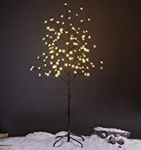 Lightshare 5 Foot LED Star Light Tree, Cherry Blossom Tree for Holiday Decoration, Warm Light, Brown, Plug and Base are Included