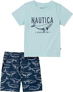 NAUTICA Baby-Boys 2 Pieces Shorts Set