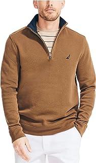 Men's French Rib Quarter-Zip Cotton Sweater
