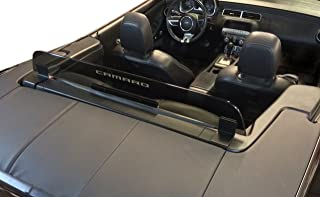 2011+ Chevrolet Camaro 5th Generation Convertible Wind Deflector - Control air flow, cut down backdraft, wind noise - GM Licensed - Easy Install, Secure Mounting - Laser-Etched Design - Smoke Tinted