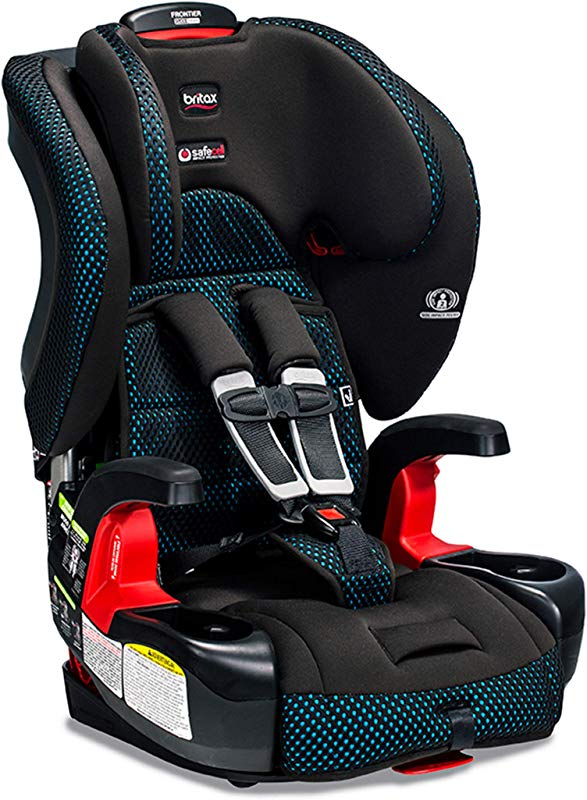 Britax Frontier ClickTight Harness 2 Booster Car Seat 2 Layer Impact Protection 25 To 120 Pounds Cool Flow Ventilating Fabric Teal