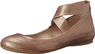 Jessica Simpson Women's Mandayss Ballet Flat,Sandbar/Gold,6.5 M US