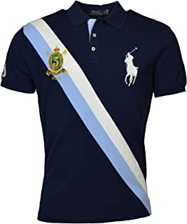 Polo Ralph Lauren Mens Big Pony Custom Slim Fit Three Button Crest Polo