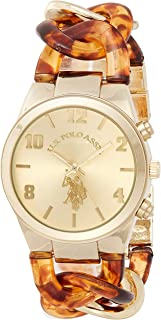 U.S. Polo Assn. USC40174 Women's Quartz Watch, Analog Display and Stainless Steel Strap