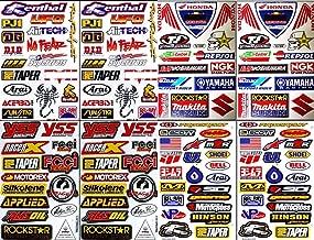 8x ATV Dirt Bike Helmet Racing Motorcycle Decal Sticker Sheets #RC801