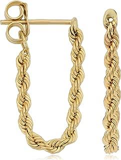 Best hoop earrings with dangling chains Reviews
