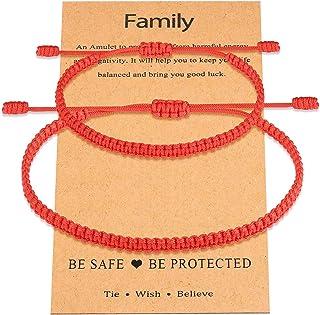 UNGENT THEM Mommy and Me Evil Eye Bracelet Red String Protection Ojo أساور قابلة للتعديل مجموعة للنساء الصغار الفتيان والف...