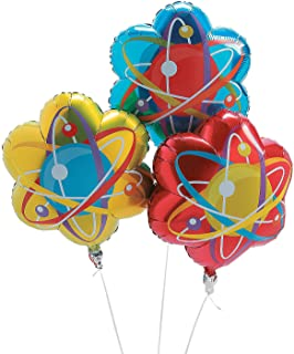 Fun Express Science Party Mylar Balloons | 3-Pack | Great for Party Decorations, Holiday Celebrations, and Science-ThemedOccasions