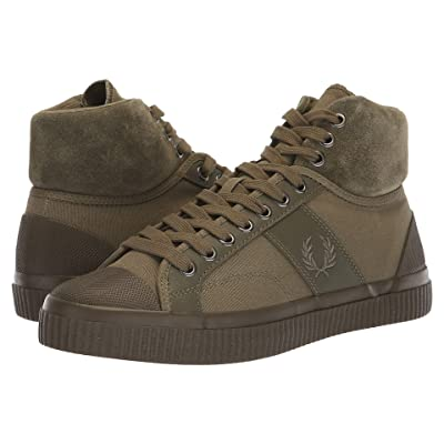 Fred Perry Hughes Mid Winterised Waxed Canvas (Burnt Olive) Men