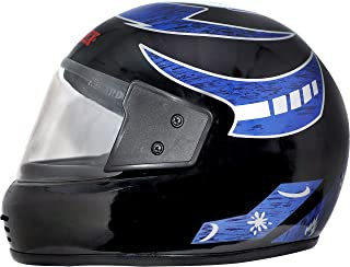 Montex Zee nex Men's and Women's Strong Full Face ISI APPROVED Motorbike Helmet , L, Black Colour Graphic-Blue