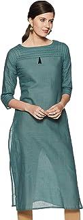 Aalia Women's Cotton Straight Kurta