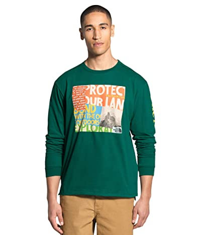 The North Face Rogue Graphic Long Sleeve Tee (Evergreen) Men