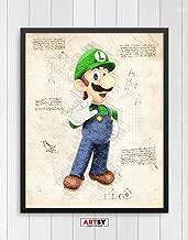 Super Mario print, Luigi print, Super Mario poster, Luigi poster, game poster, Nintendo N.002 (8 x 10 inch)