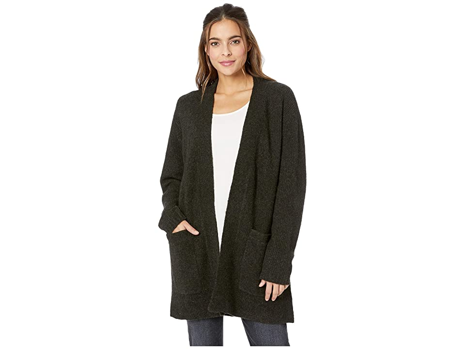 Frye Long Sleeve Overcoat Cardigan (Forest) Women