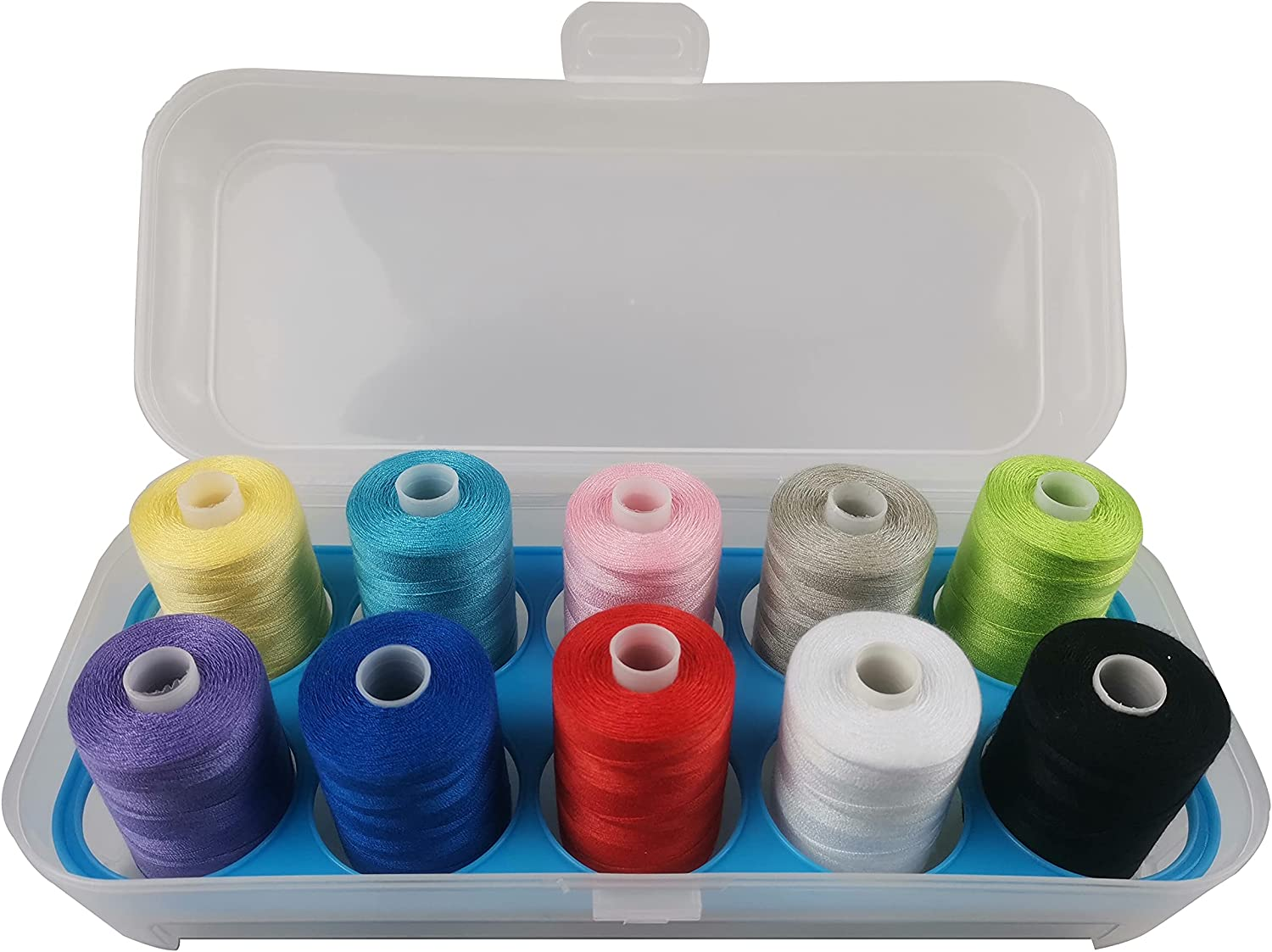 Sewing Thread 40 Colors 1000 free Yards Per 15 40S Spool Polyester 5 ☆ popular 2