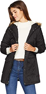 Levi`s Women`s Sherpa Lined Mid-Length Performance Parka Jacket (Standard and Plus)