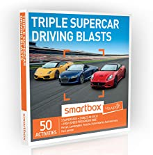 Buyagift Triple Supercar Driving Blasts Gift Experiences Box – 50 adrenaline-fuelled triple supercar driving thrills, with various locations around the UK