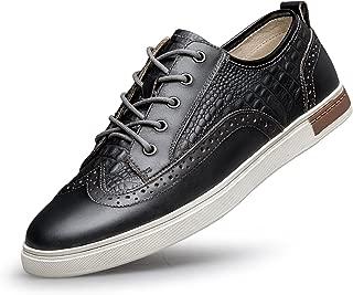 ZRO Men's Wingtip Casual Leather Oxford Sneaker Shoes