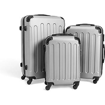 Todeco Noir 51 61 71 cm Bagages pour Voyage Set de Valises ABS Roues: 4 roues /à rotation 360/° Mat/ériau: Plastique ABS Coins prot/ég/és
