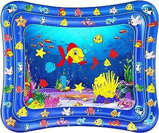 Dycsin Alfombrilla de Agua Inflable para bebé Alfombra de juego llena de agua, 120 * 100 CM Manta Actividades Juguete para bebé 3 6 9 Meses Actividad Infantil Diversión para Creciendo Recién Nacido