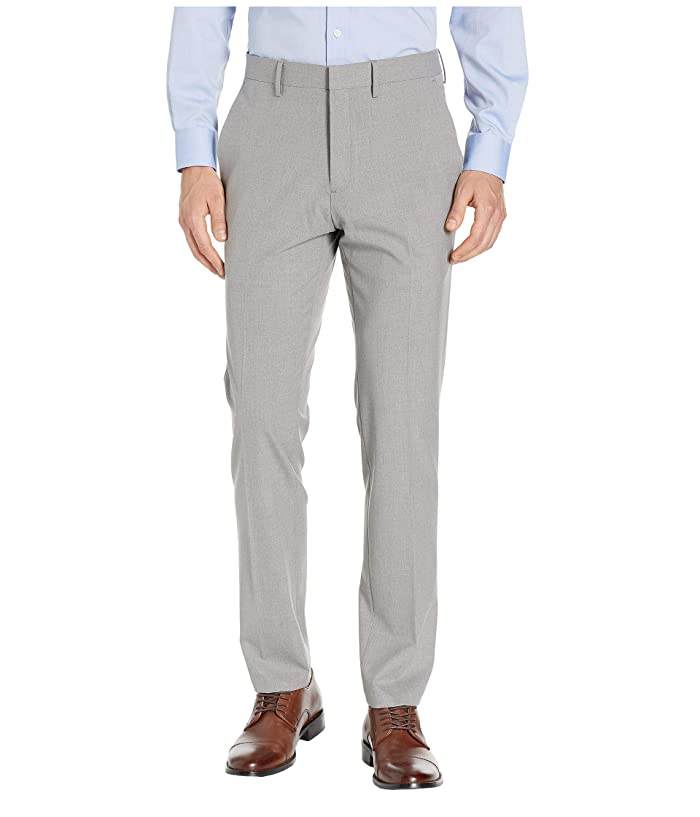 Kenneth Cole Reaction  Solid Gab Four-Way Stretch Slim Fit Dress Pants (Grey) Mens Casual Pants