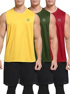 Men's 3 Pack Workout Tank Top Sleeveless Dri Fit Gym Shirt