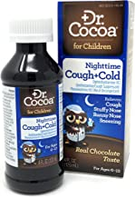 Dr. Cocoa Cough and Cold Medicine for Kids, Nighttime Formula, Real Chocolate Taste, 4 Fluid Ounce