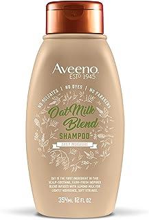 Aveeno Farm-Fresh Oat Milk Sulfate-Free Shampoo with Colloidal Oatmeal & Almond Milk, Moisturizing Shampoo for All Hair Ty...