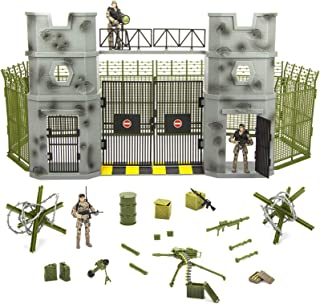 Click N' Play Military Army Base 51 Piece Play Set with Accessories