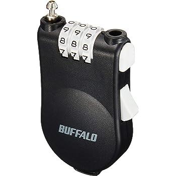 BUFFALO ワイヤー巻き取り式ダイヤルロック BSL10
