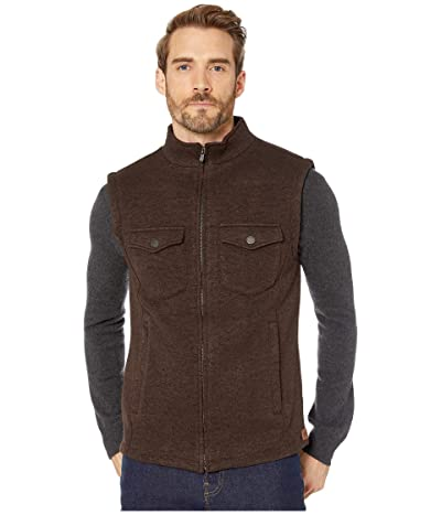 The Normal Brand Lincoln Fleece Vest (Brown) Men
