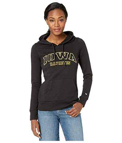 Champion College Iowa Hawkeyes Eco University Fleece Hoodie (Black) Women
