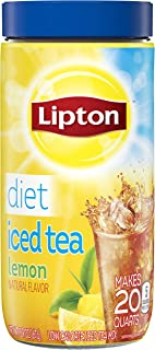 Lipton Black Iced Tea Mix, Diet Lemon 20 qt, 5.9 Ounce, Pack of 6