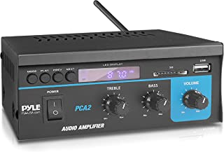 Home Audio Power Amplifier System 2X40W Mini Dual Channel Sound Stereo Receiver Box w/ LED For Amplified Speakers, CD Play...