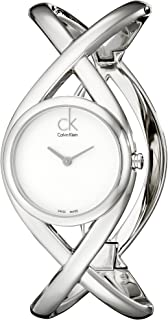 Calvin Klein Womens Quartz Watch, Analog Display and Stainless Steel Strap K2L23120
