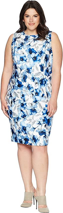 Calvin Klein Plus Plus Size Printed Scuba Dress