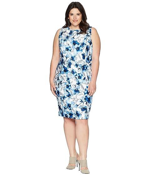 Ice Scuba Calvin Klein Plus Blue Plus estampado Size Vestido Regatta Blue wAq4gOH