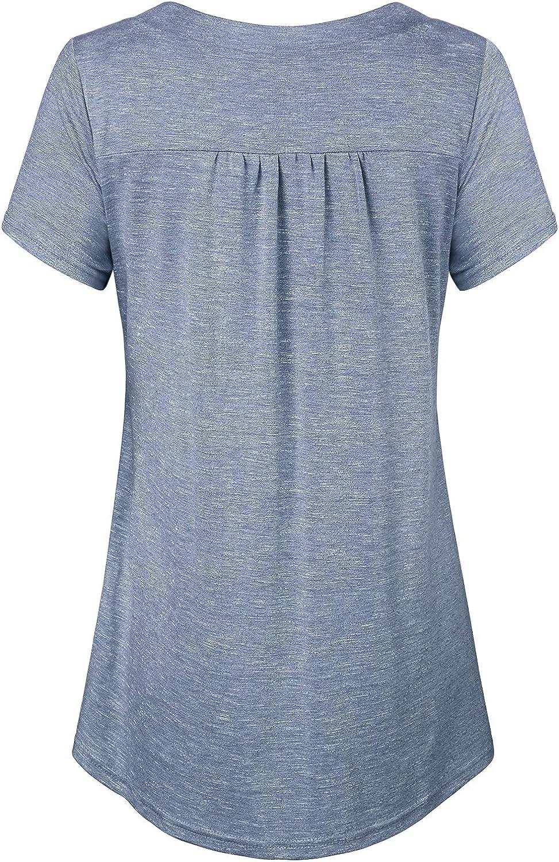 JOYMOM Damen V-Ausschnitt Kurzarm Stilltop Umstandsstill-Shirts S-2XL