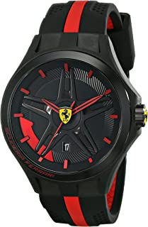 Ferrari Men's 0830160 Lap-Time Black and Red Watch