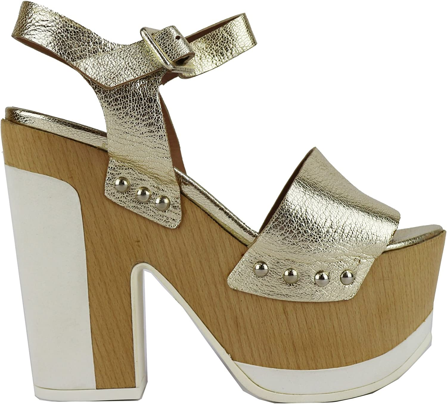 MY COCHO Sandals Womens Leather gold