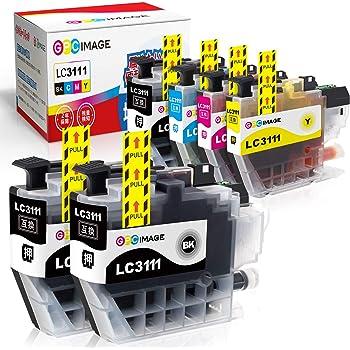 GPC Image ブラザー対応 Brother LC3111-4PK インクカートリッジ 4色セット+ 黒 2本 ブラザー LC3111 インク 互 換 残量表示機能 2年保証 個包装 大容量 説明書付
