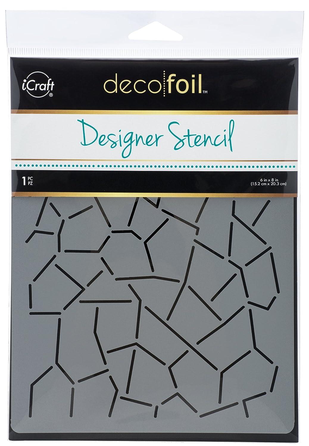 iCraft Deco Foil 5505 Designer Stencil 6x8 Crackle None