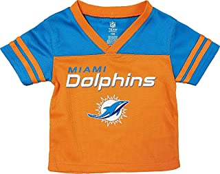 Miami Dolphins Orange NFL Boys Youth Team Apparel V Neck Jersey