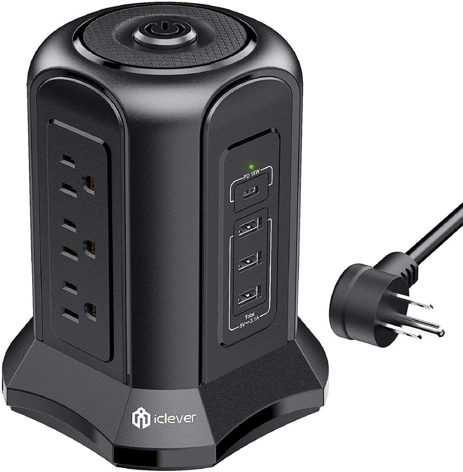 Power Strip Tower Surge Protector with A Port C USB 18W 3 Save Price reduction money