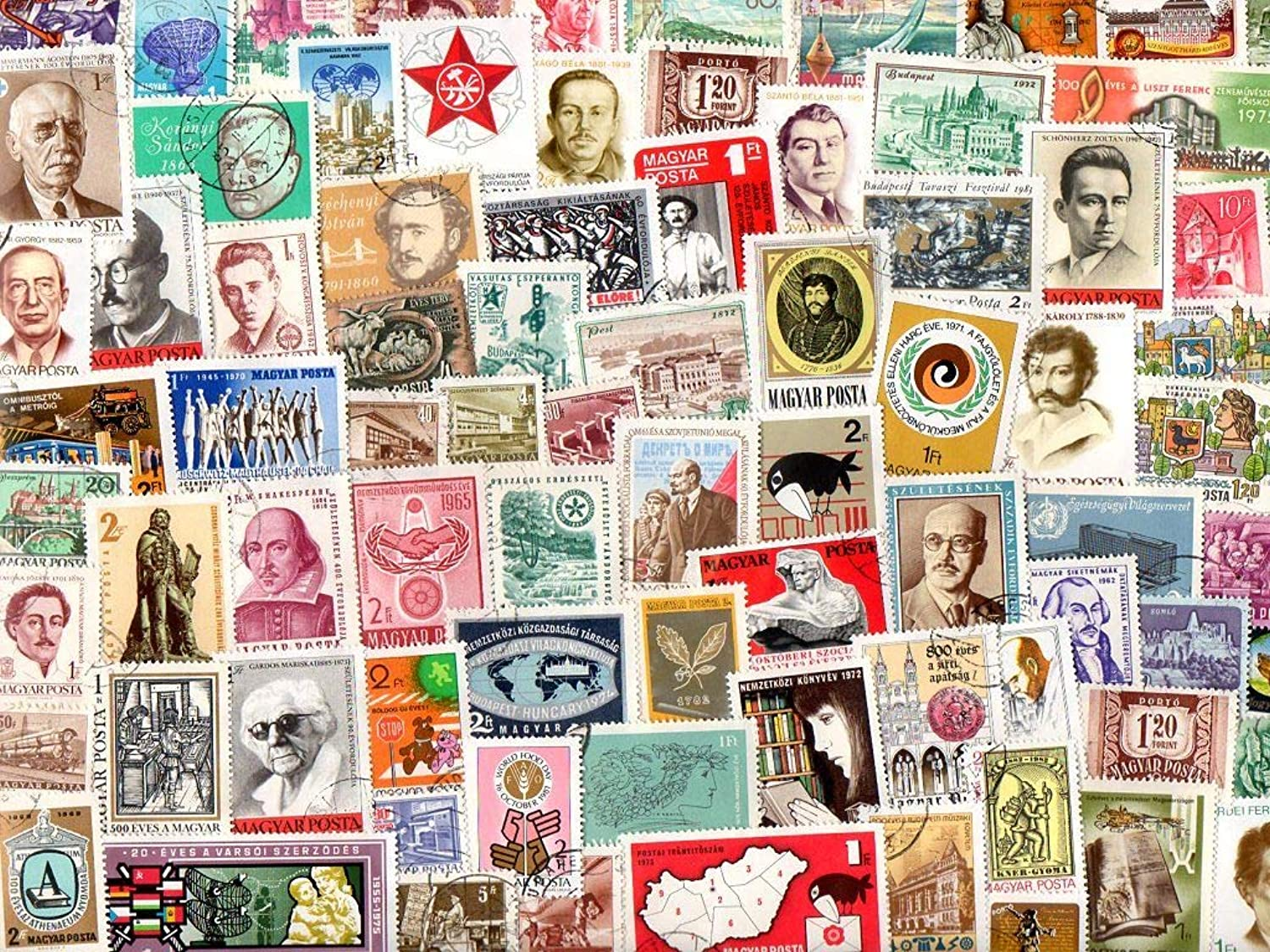 Hungary   1000 Different Stamps Collection Mixture Packet Stamps for Collectors