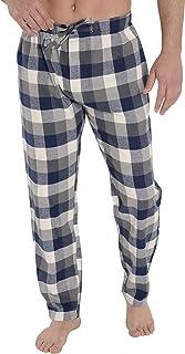Pantalón de Pijama Suelto de Hombre Pantalón de Pijama Caballero de Entretiempo clásico de a Rayas o Cuadros Ropa de Dormir para Hombre Popelín de algodón