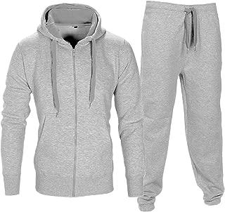 Love My Fashions Men Tracksuit Set Fleece Hoodie Bottom Jogger Kids Contrast Cord Gym Active wear