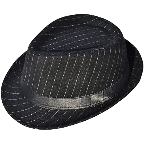 Simplicity Men s   Women s Manhattan Structured Gangster Trilby Wool Fedora  Hat Black 9a3e7a2fa05